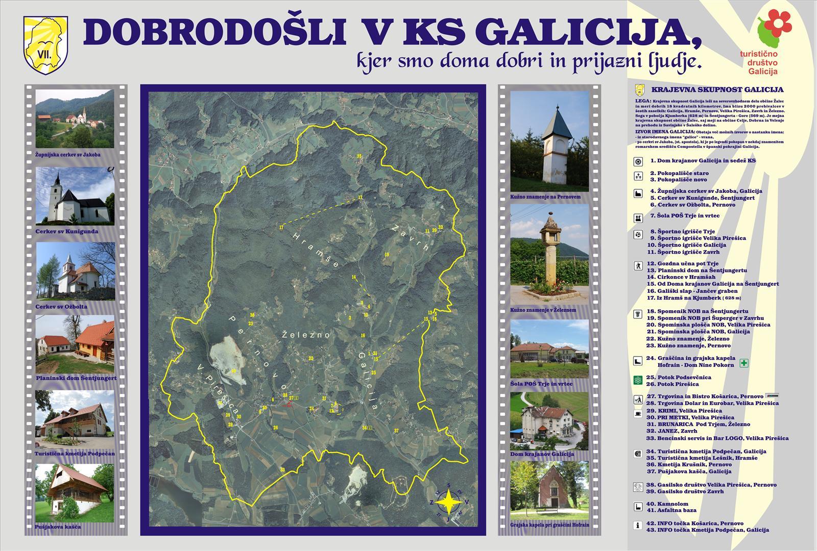 Turističbo društvo Galicija - INFO tabla